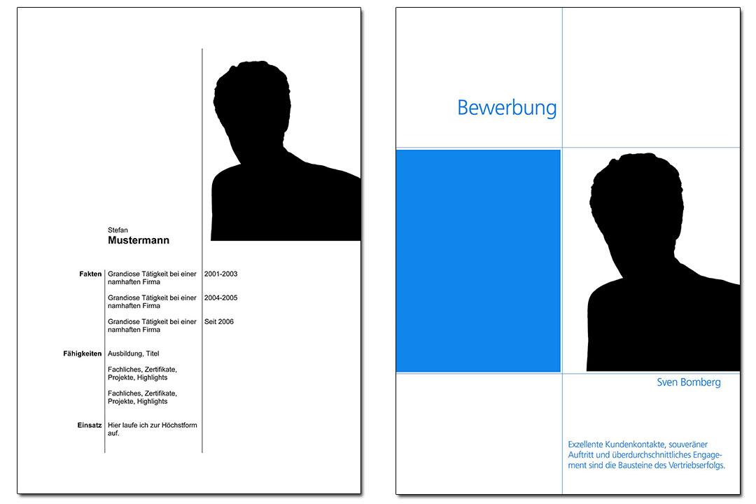 Beispiele für Deckblatt und Fact Sheet